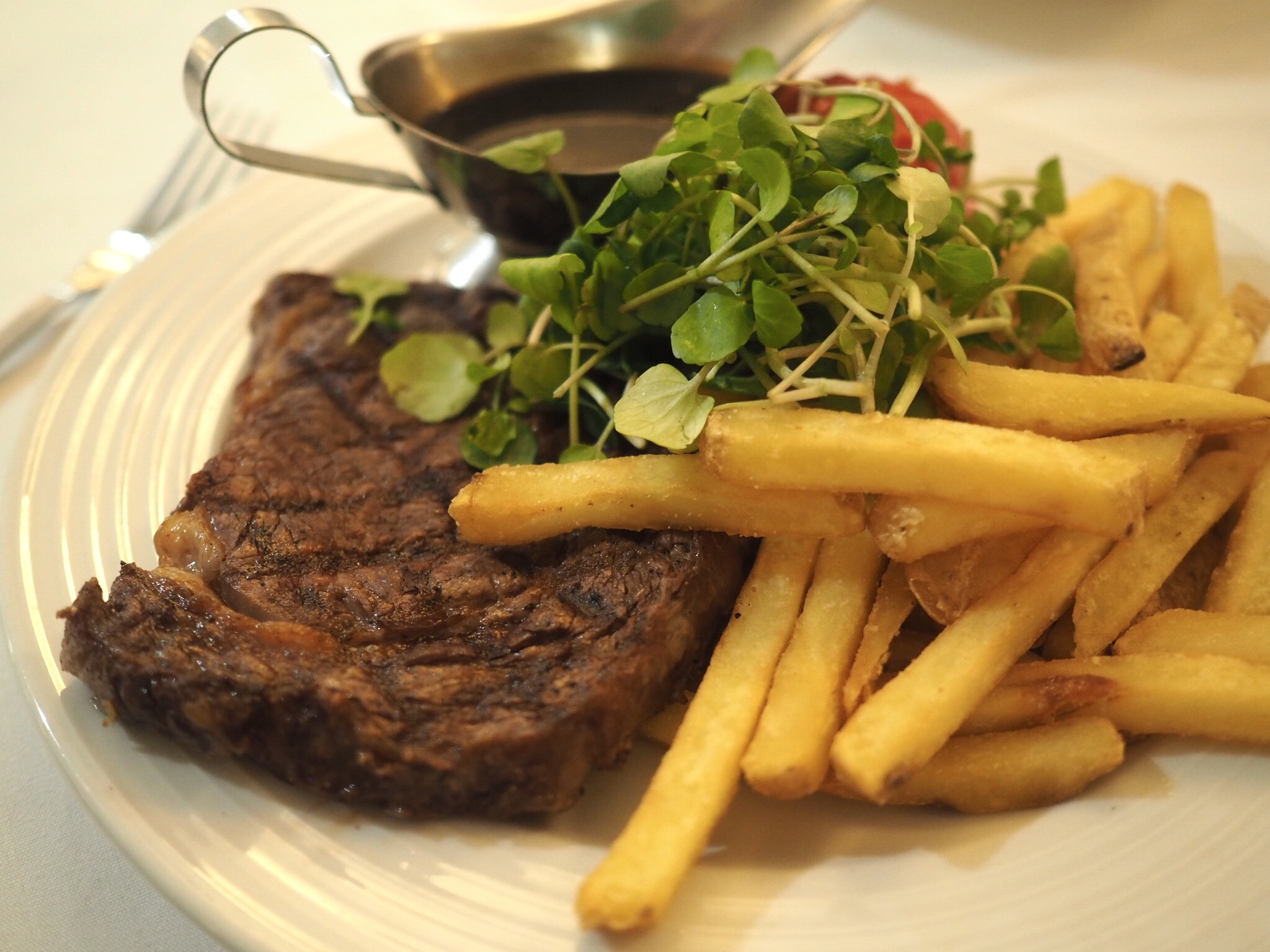what lizzy loves bank House Hotel review ribeye steak