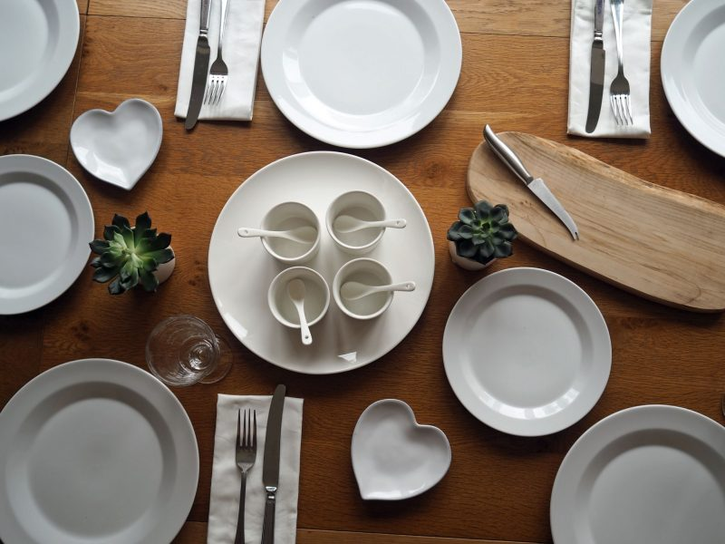 A White Table Setting And A Life-Changing Decision