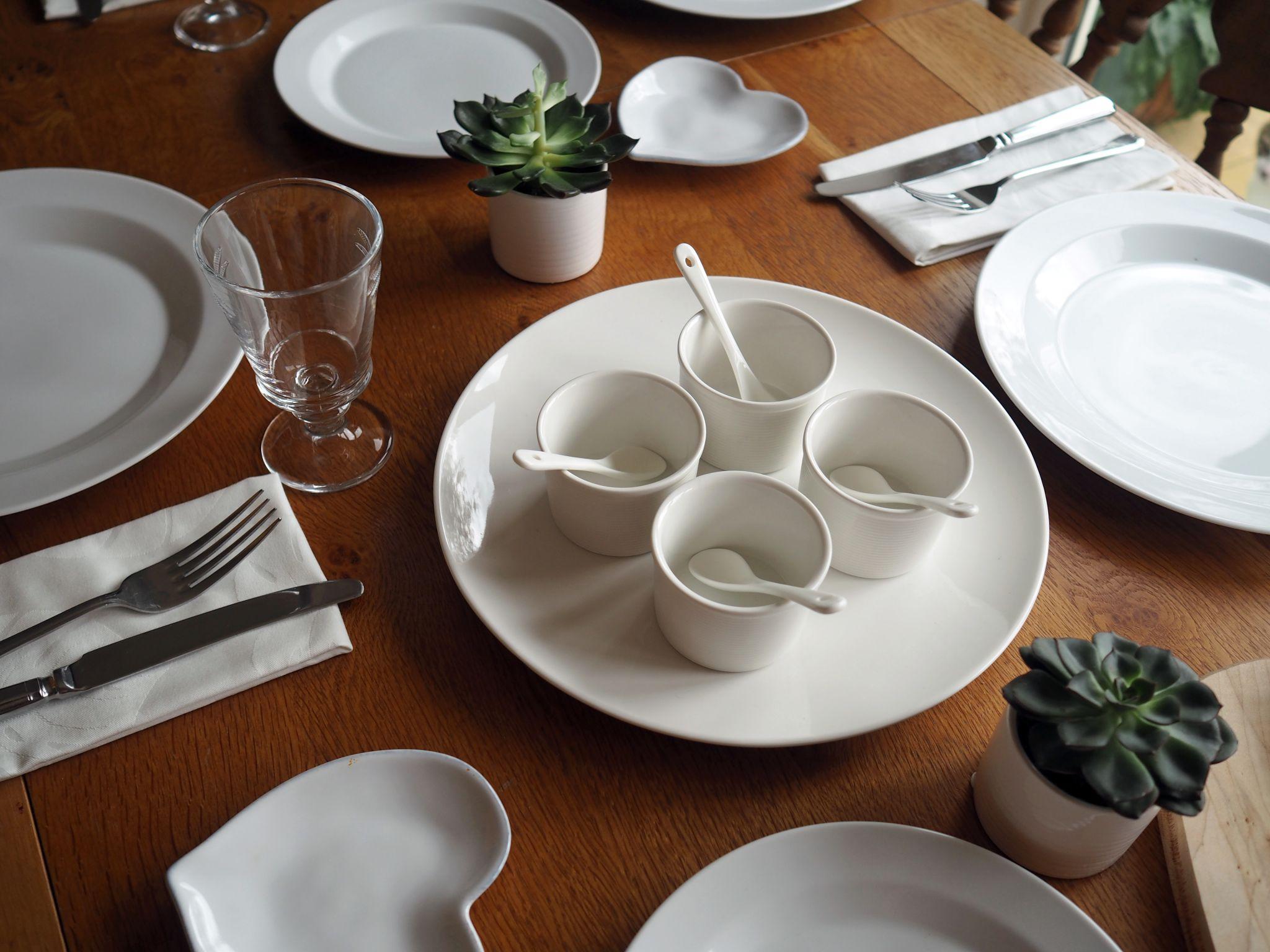 white-table-setting-james-martin-denby-dip-dishes-ramekins-ceramic-spoons
