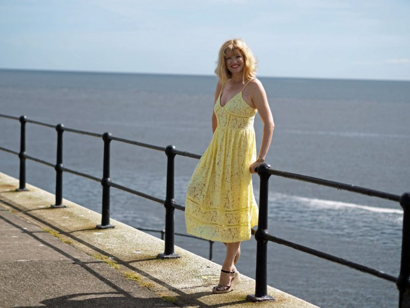 Yellow Lace Dress: Worn On A Windy Day On The Northumbrian Coast