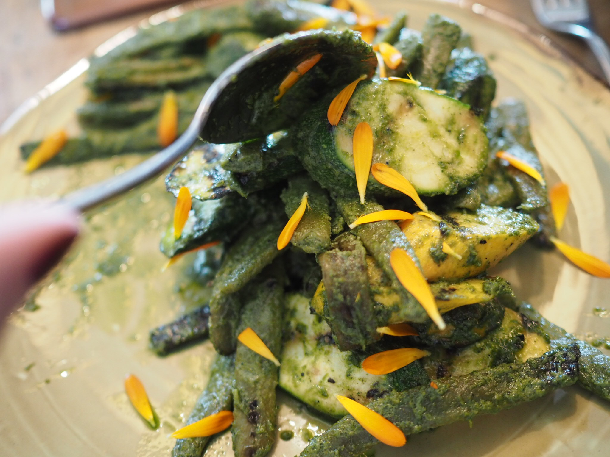 what-Lizzy-Loves-River-Cottage-lunch-courgettes