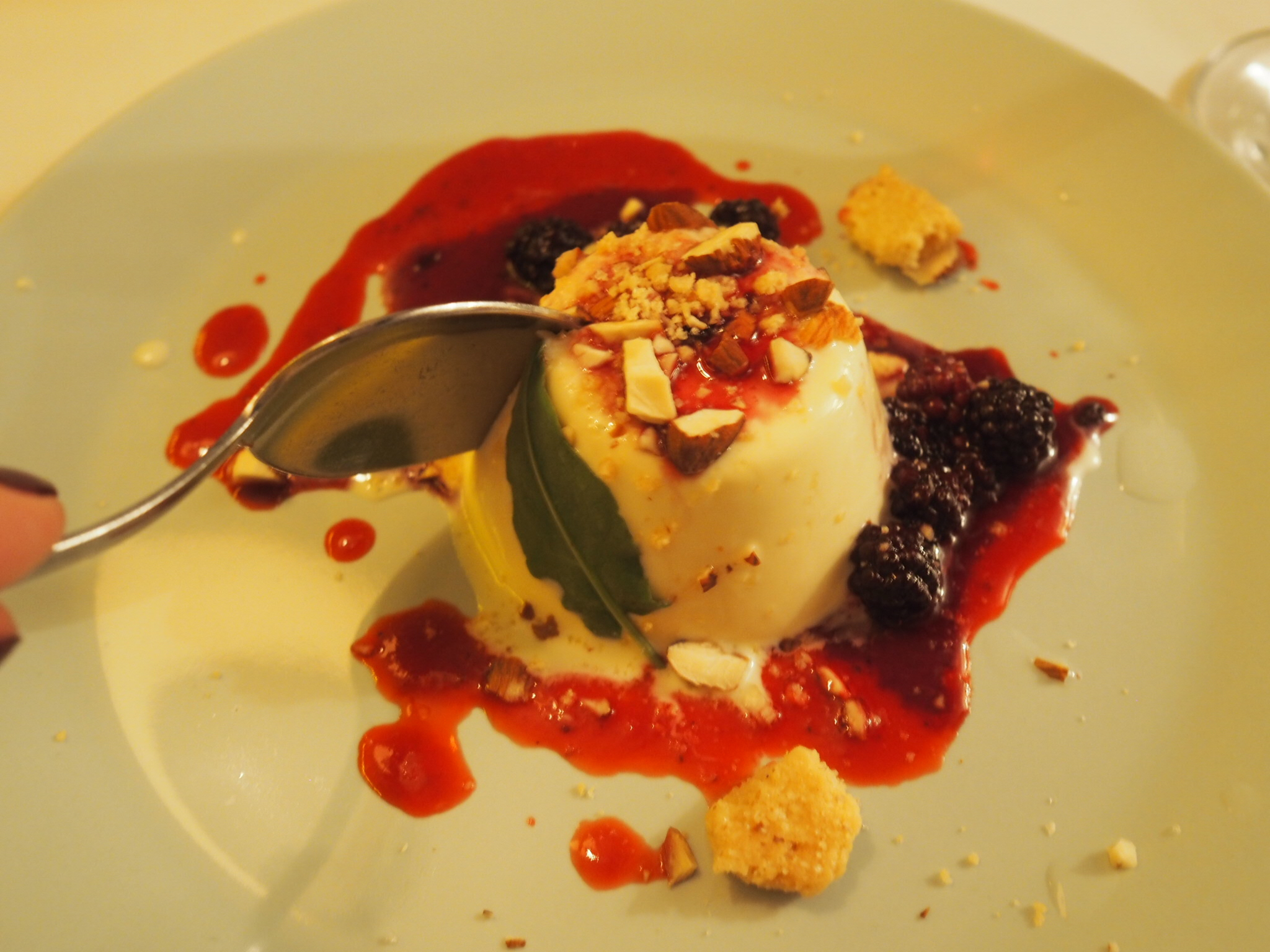 what-lizzy-loves-River-Cottage-panna-cotta=berries-sorrel