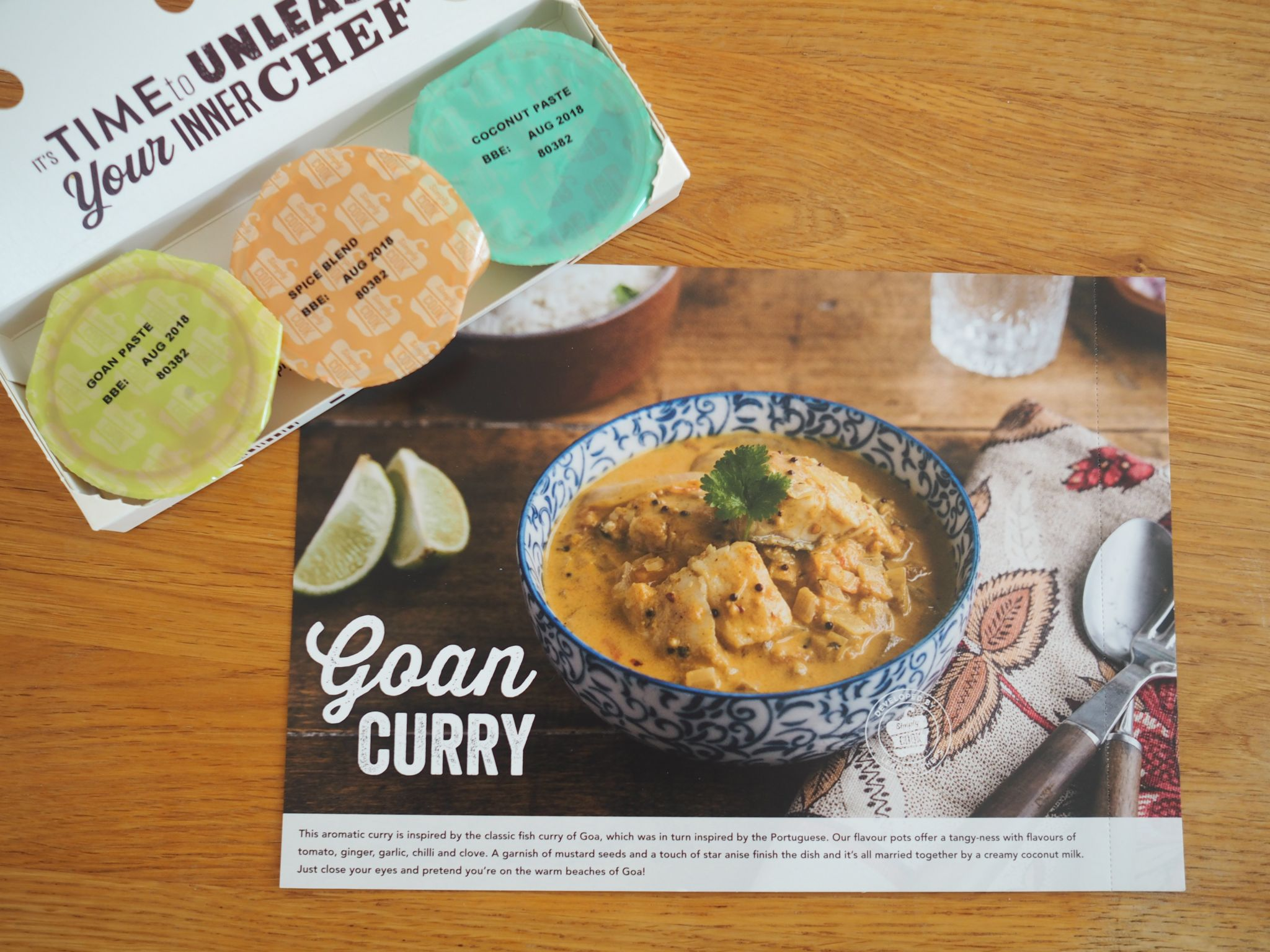 what lizzy loves simply cook recipe box goan chicken curry
