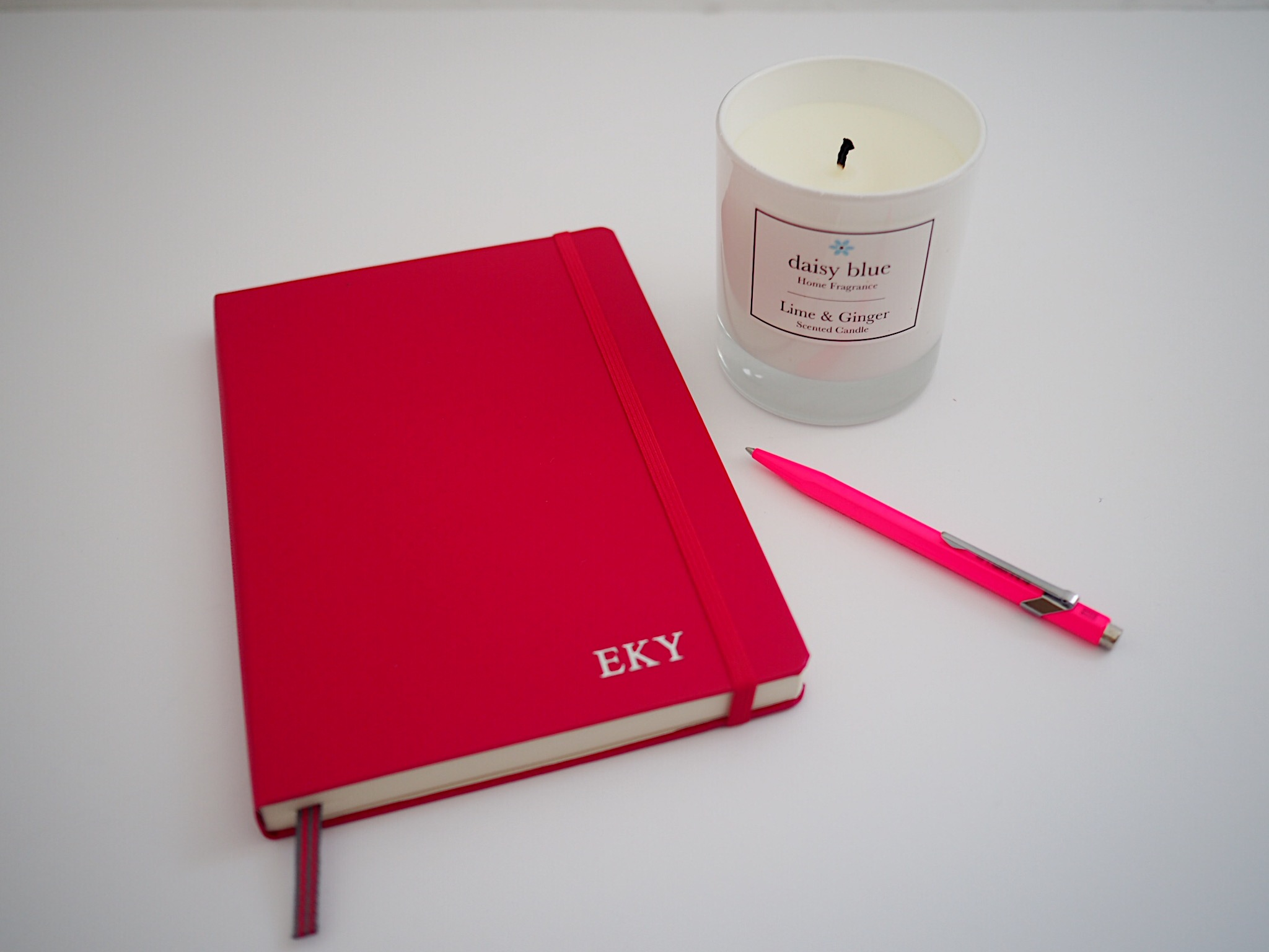 what-lizzy-loves-ginger-candle-pen-heaven-notebook