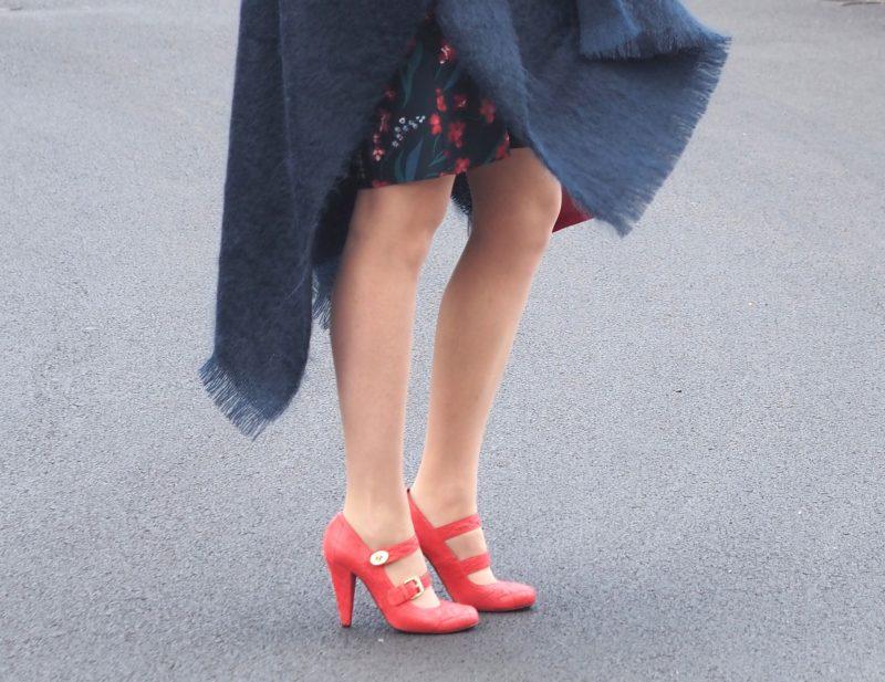 what-lizzy-loves-desk-dinner-dress-hobbs-mulberry-shoes-navy-mohair-serape-orange-shoes