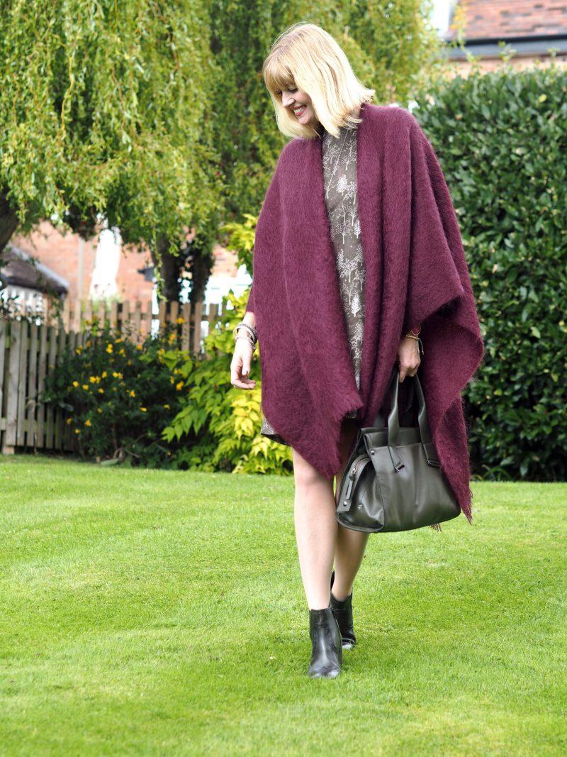 what lizzy loves khaki dress mohair serape