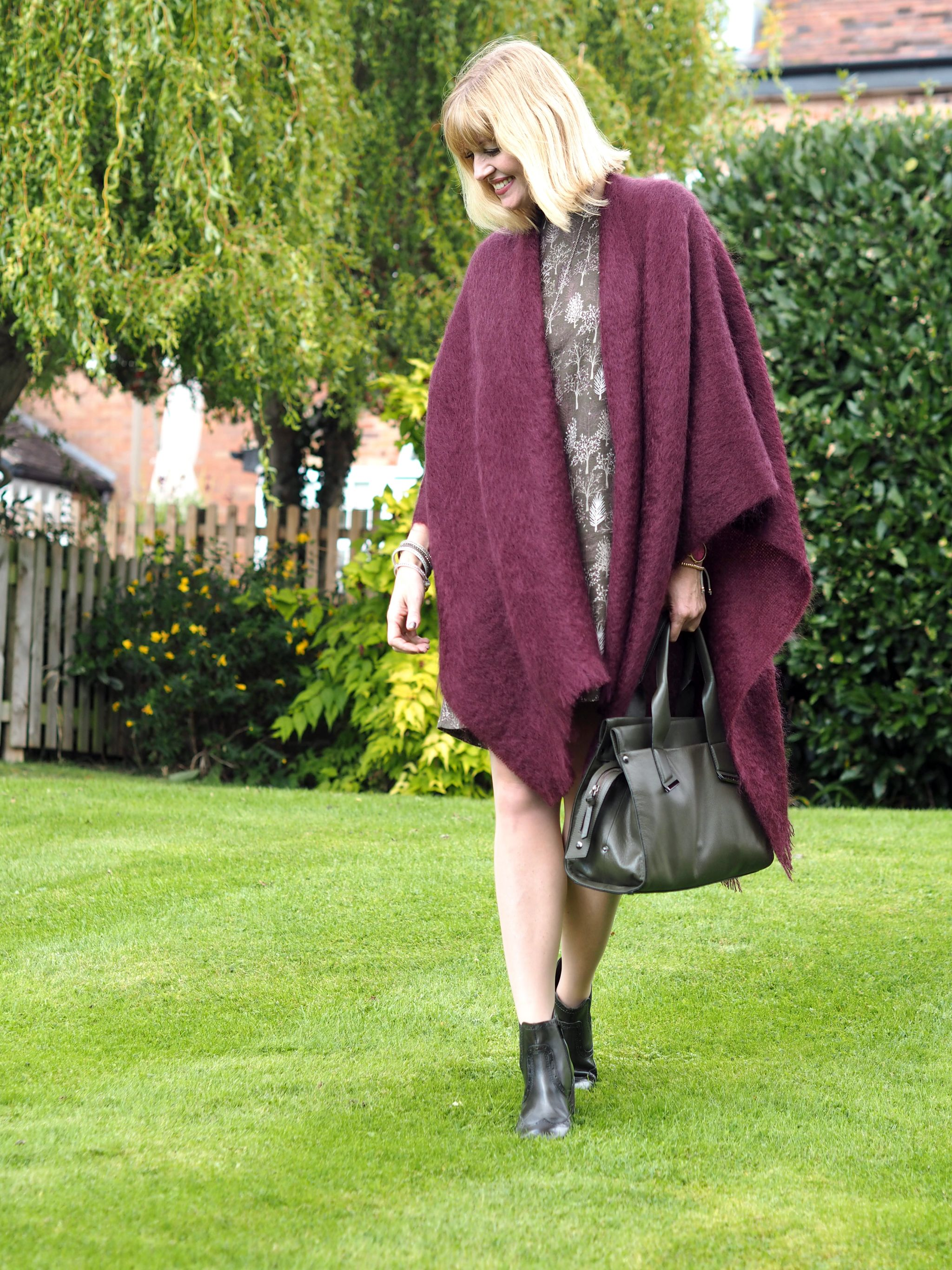 what lizzy loves khaki dress mohair serape