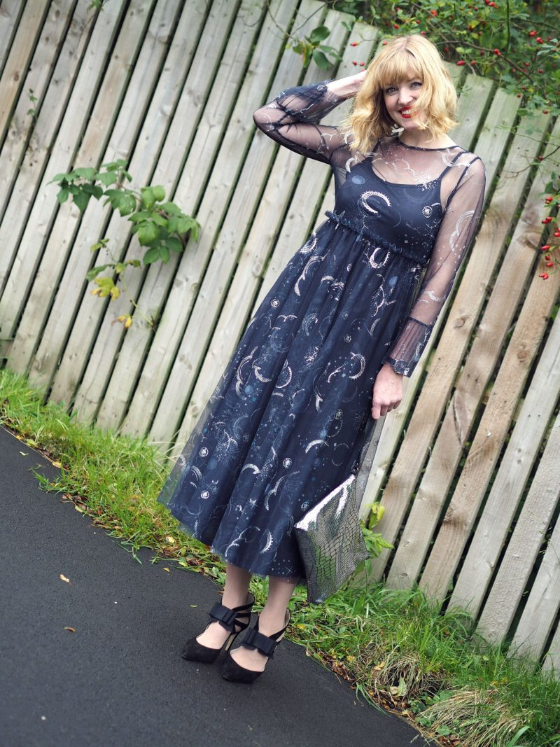 My Birthday Outfit: THAT Sellout M&S Constellation Midi Dress