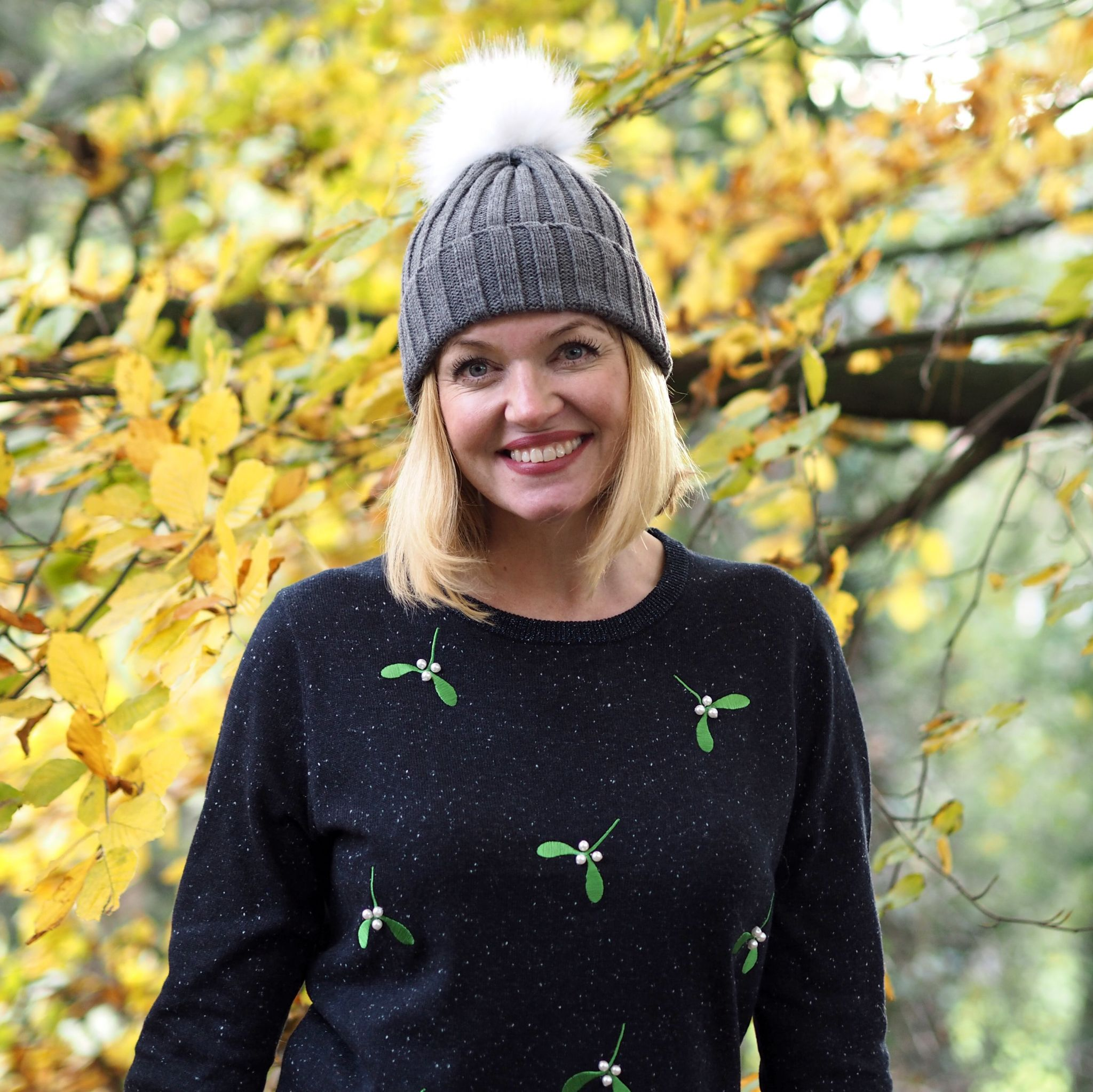 What Lizzy Loves mistletoe Christmas jumper over 40