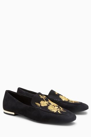 what lizzy loves embroidered loafers