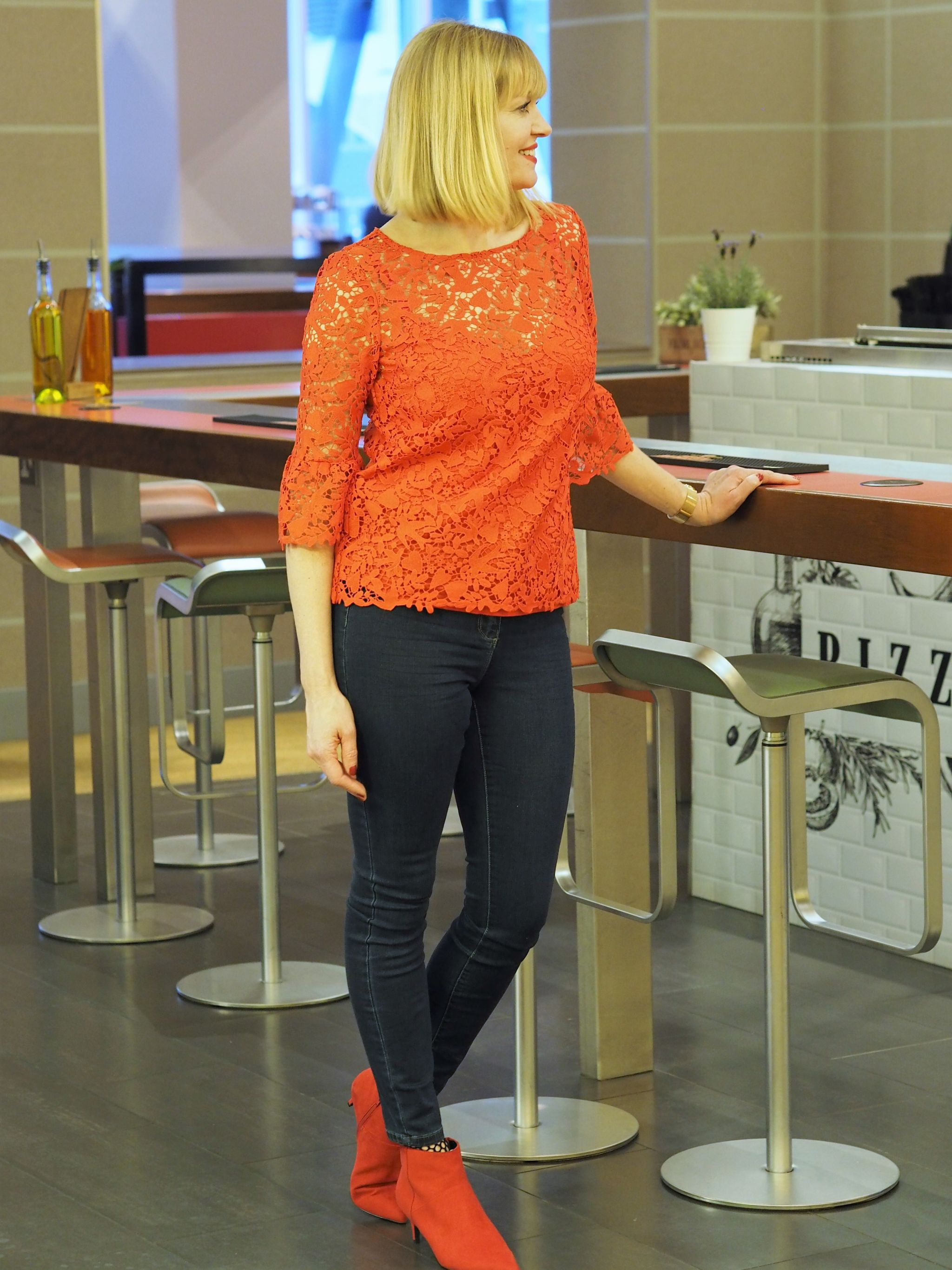 what-lizzy-loves-Boden-red-lace-top-jeans- red-boots