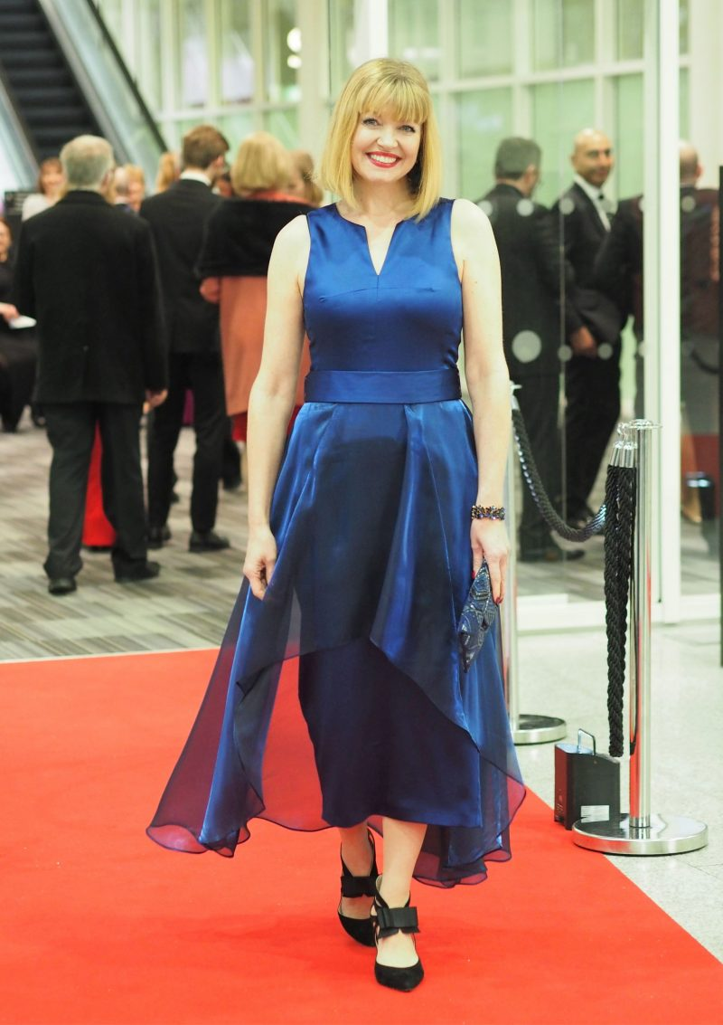 what-lizzy-loves-black-tie-outfit-AOP-awards-blue-cocktail-dress