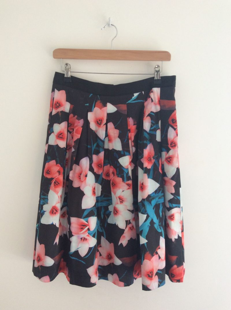 Kaleidoscope satin floral skirt