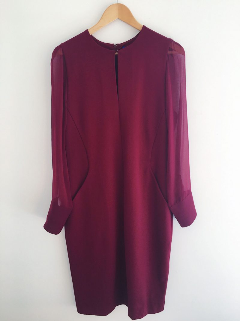 Winser London miracle dress burgundy