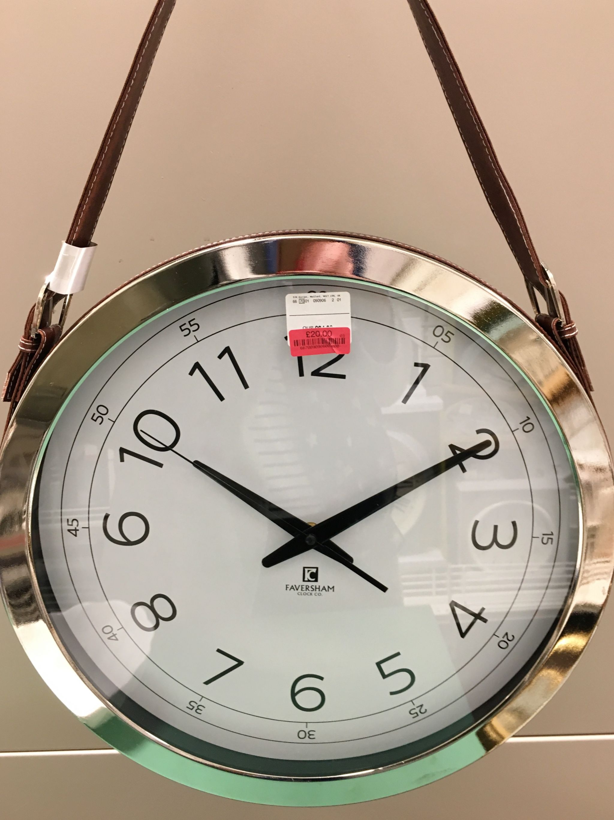 what-lizzy-loves-TKMaxx-leather clock