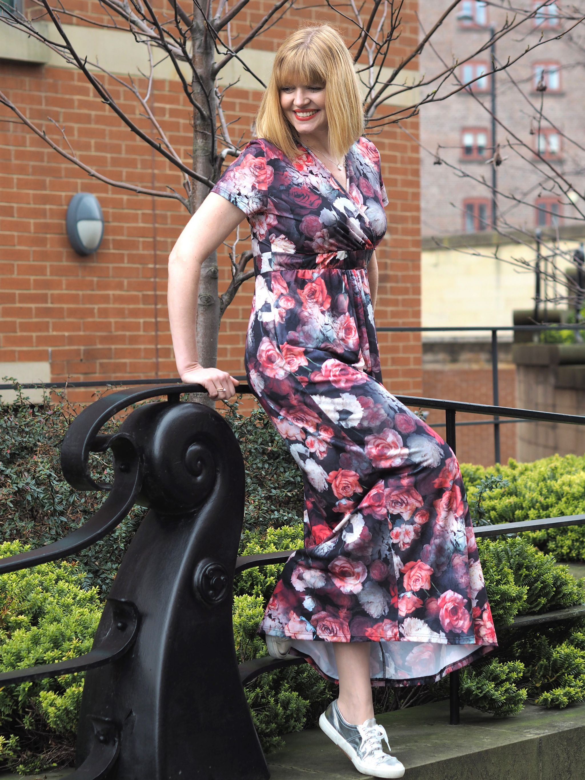 what Lizzy Loves floral maxi dress