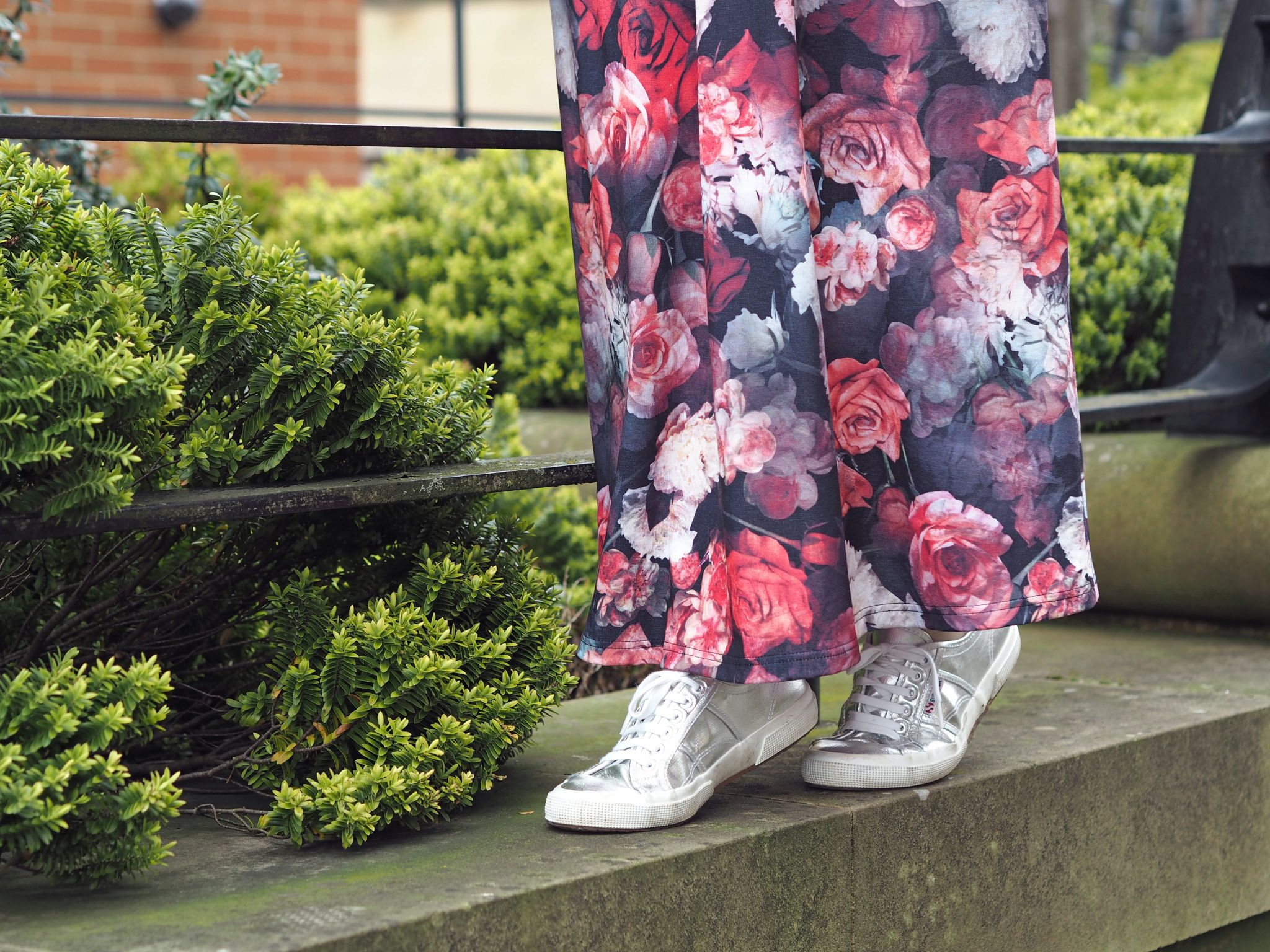what lizzy loves floral maxi silver superga pumps