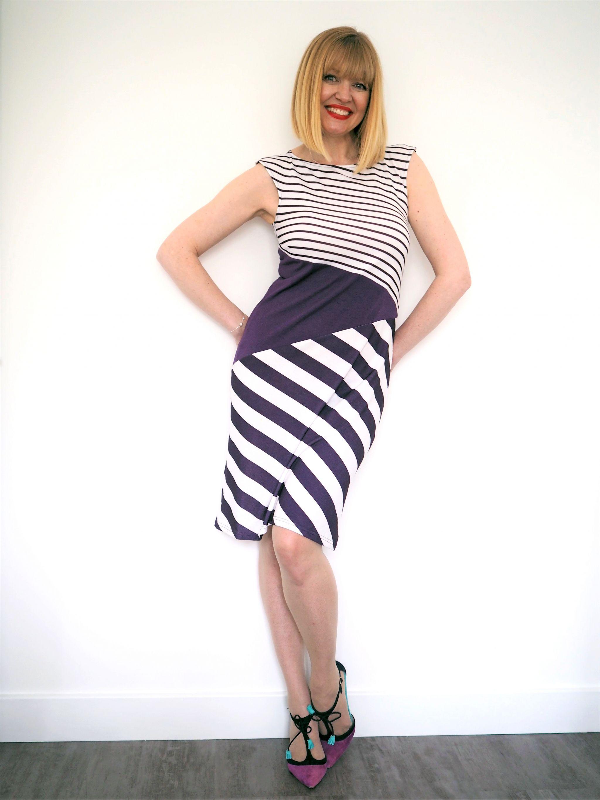 what lizzy loves purple damson striped Hotsquash dress