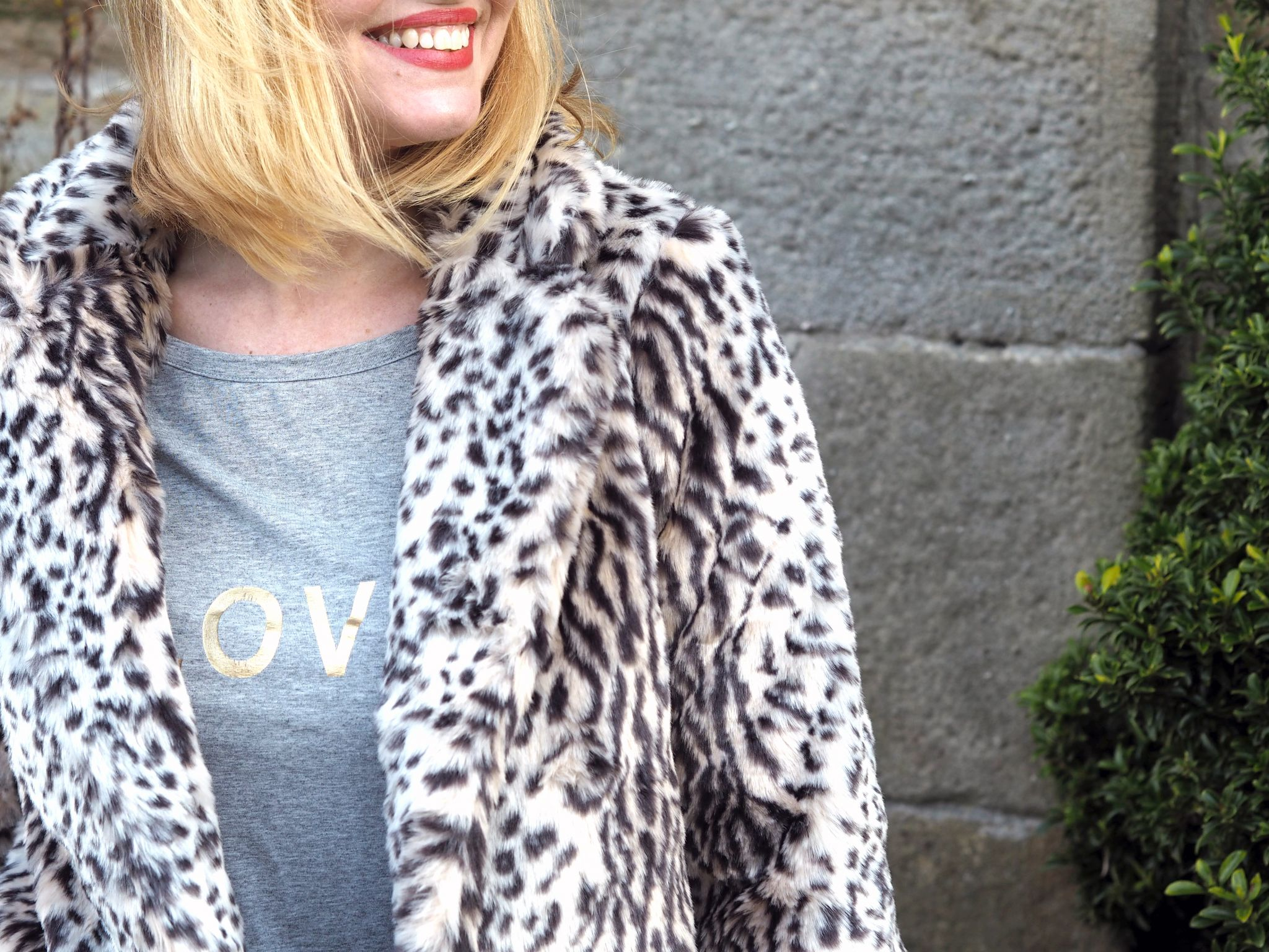 what lizzy loves leopard coat love top