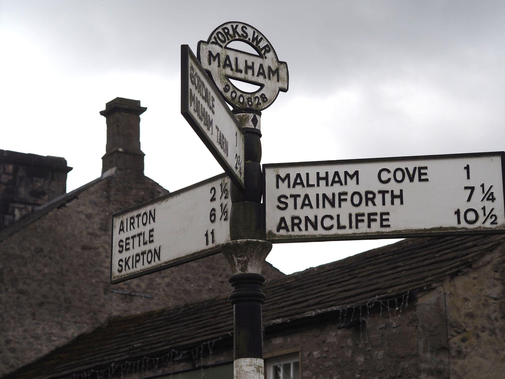Malham signpost