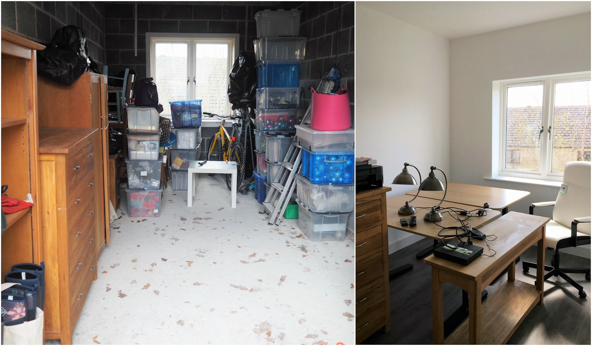 what lizzy loves garage to office conversion