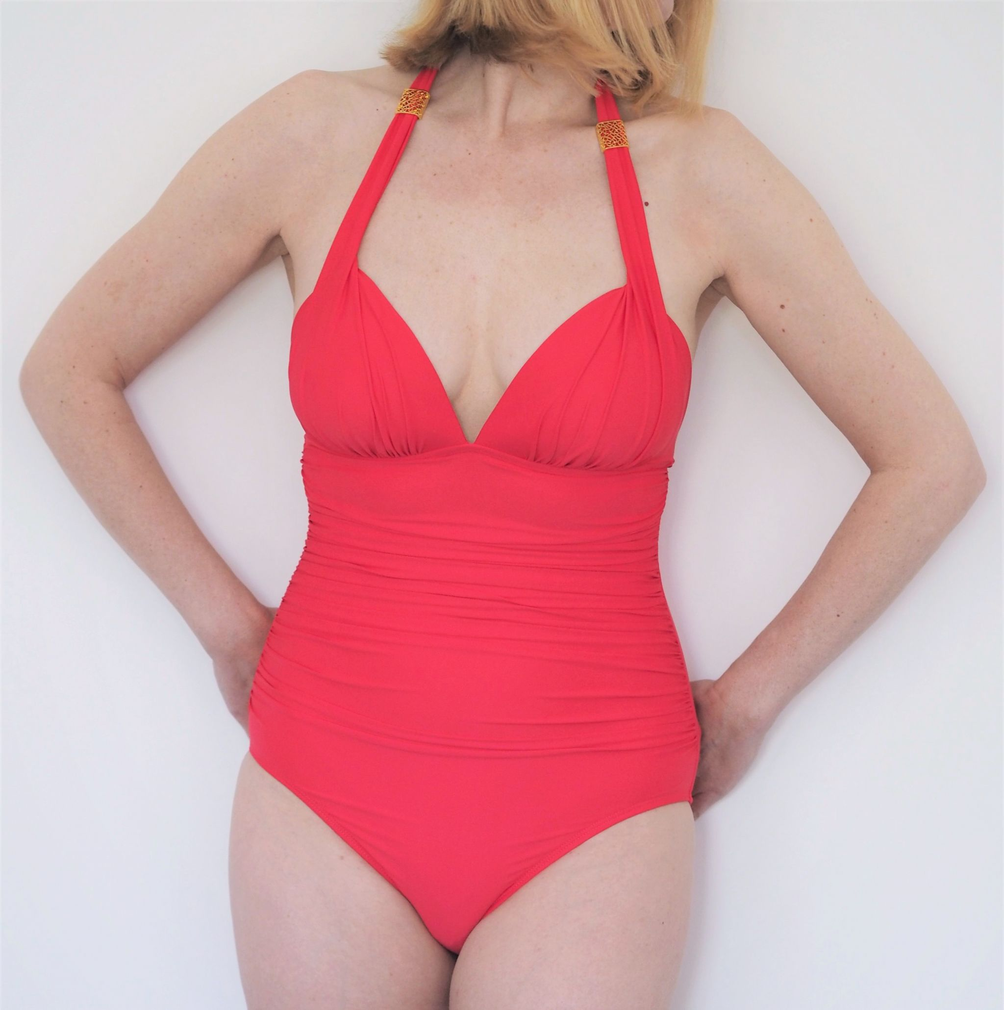 what Lizzy Loves coral seaspray swimsuit