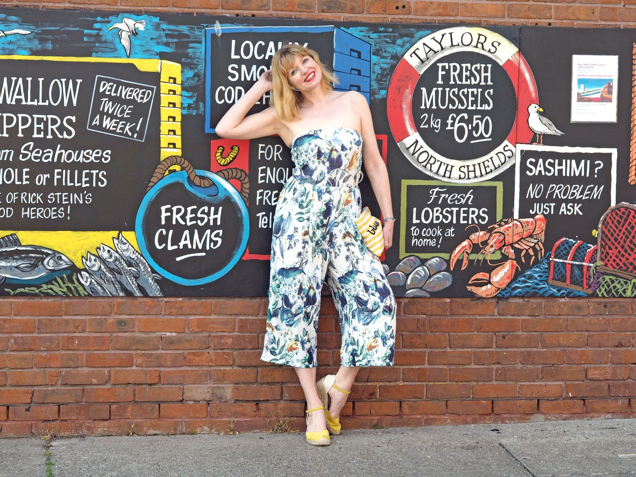 what lizzy loves strapless floral jumpsuit north shields