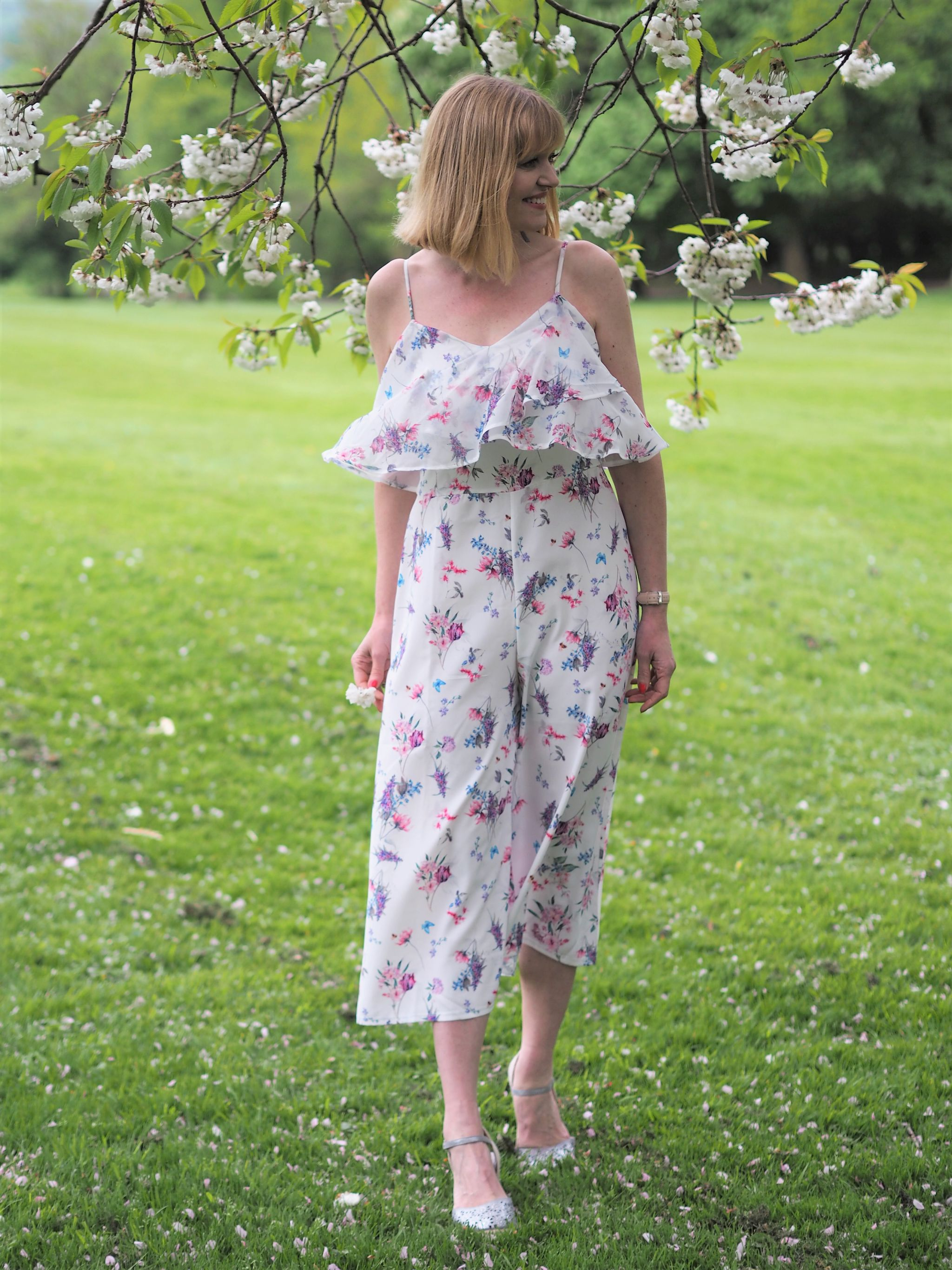 what Lizzy Loves floral floaty jumpsuit