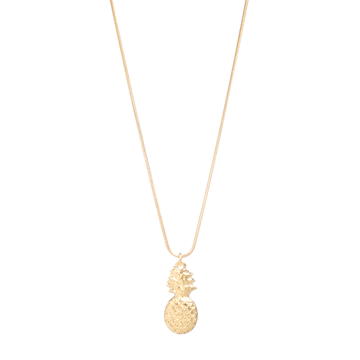 short gold pineapple necklace danon