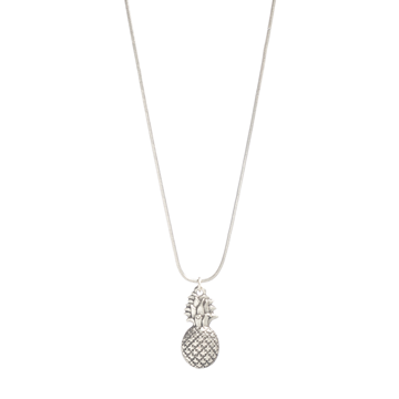 long silver pineapple necklace