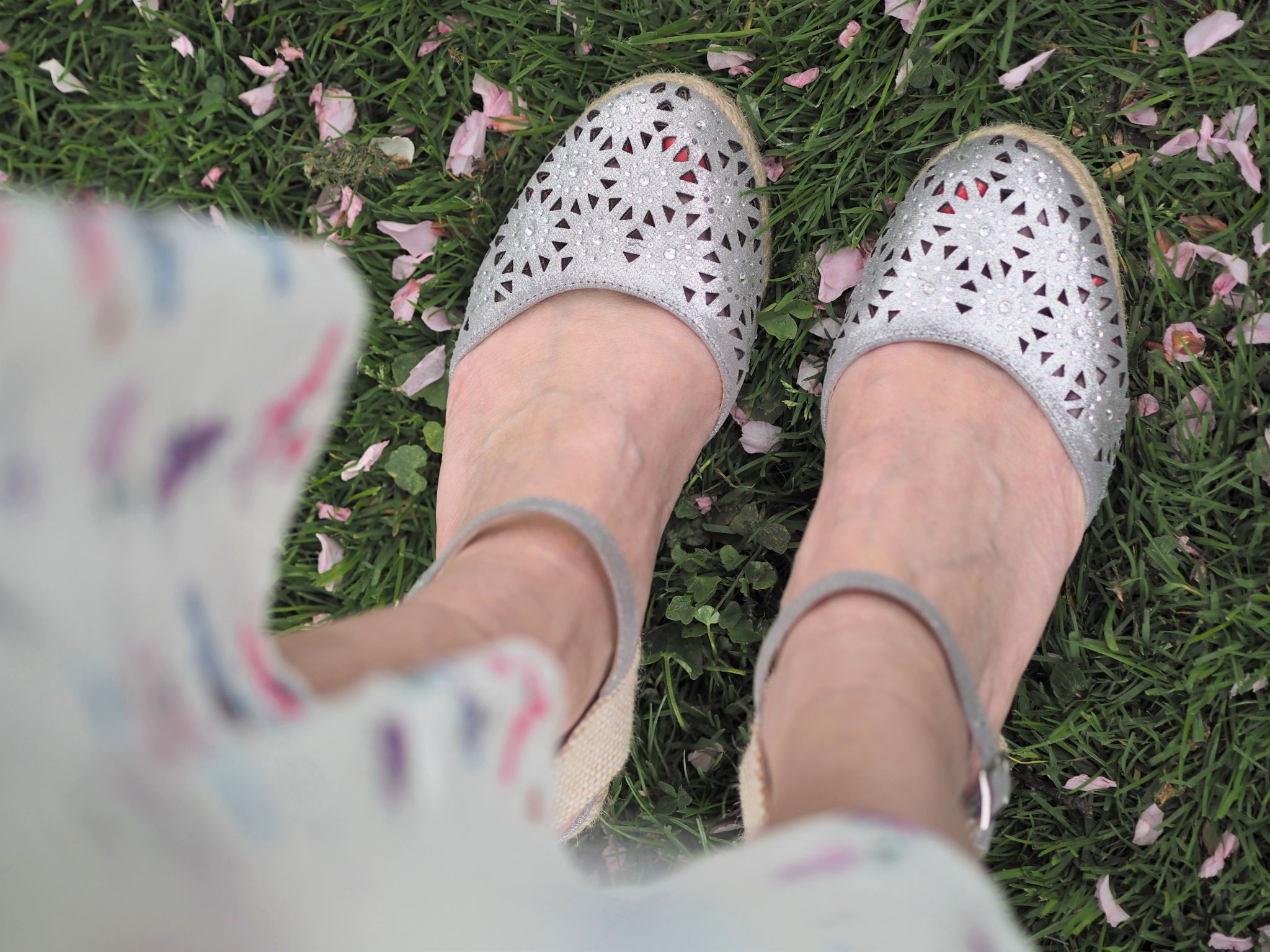 what lizzy loves silver diamante espadrilles