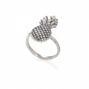 danon silver pineapple ring