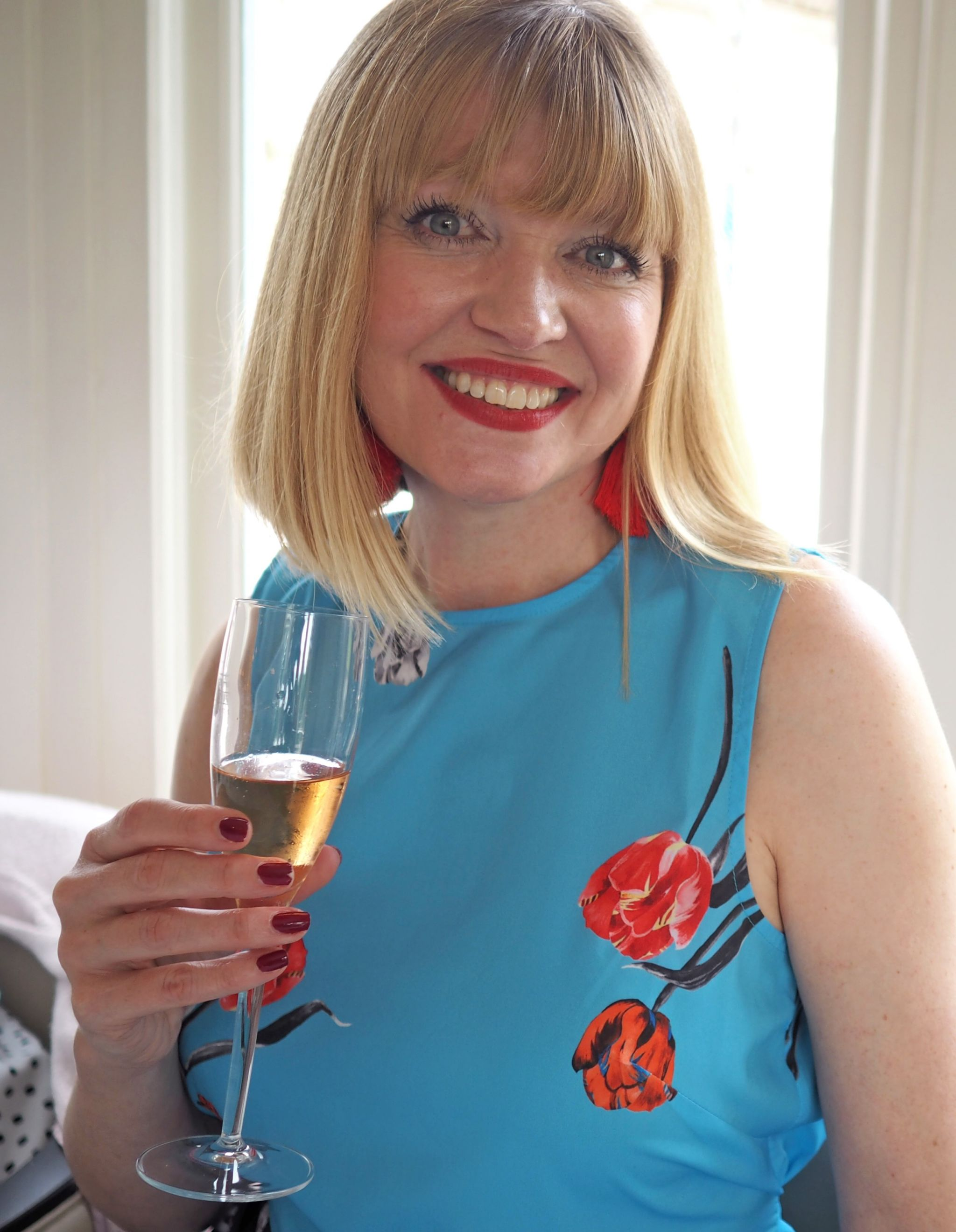 what lizzy loves champagne at Bettys