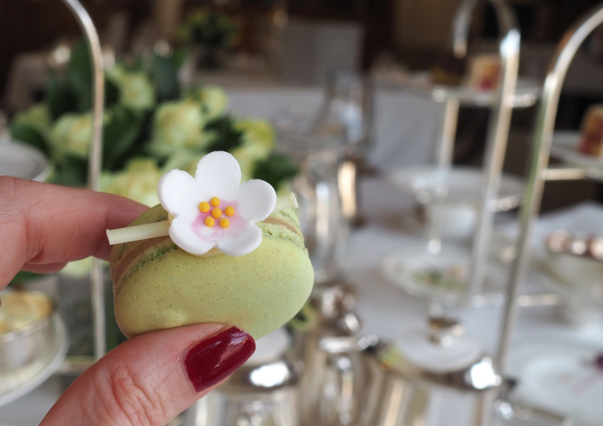 gooseberry macaroon Bettys afternoon tea
