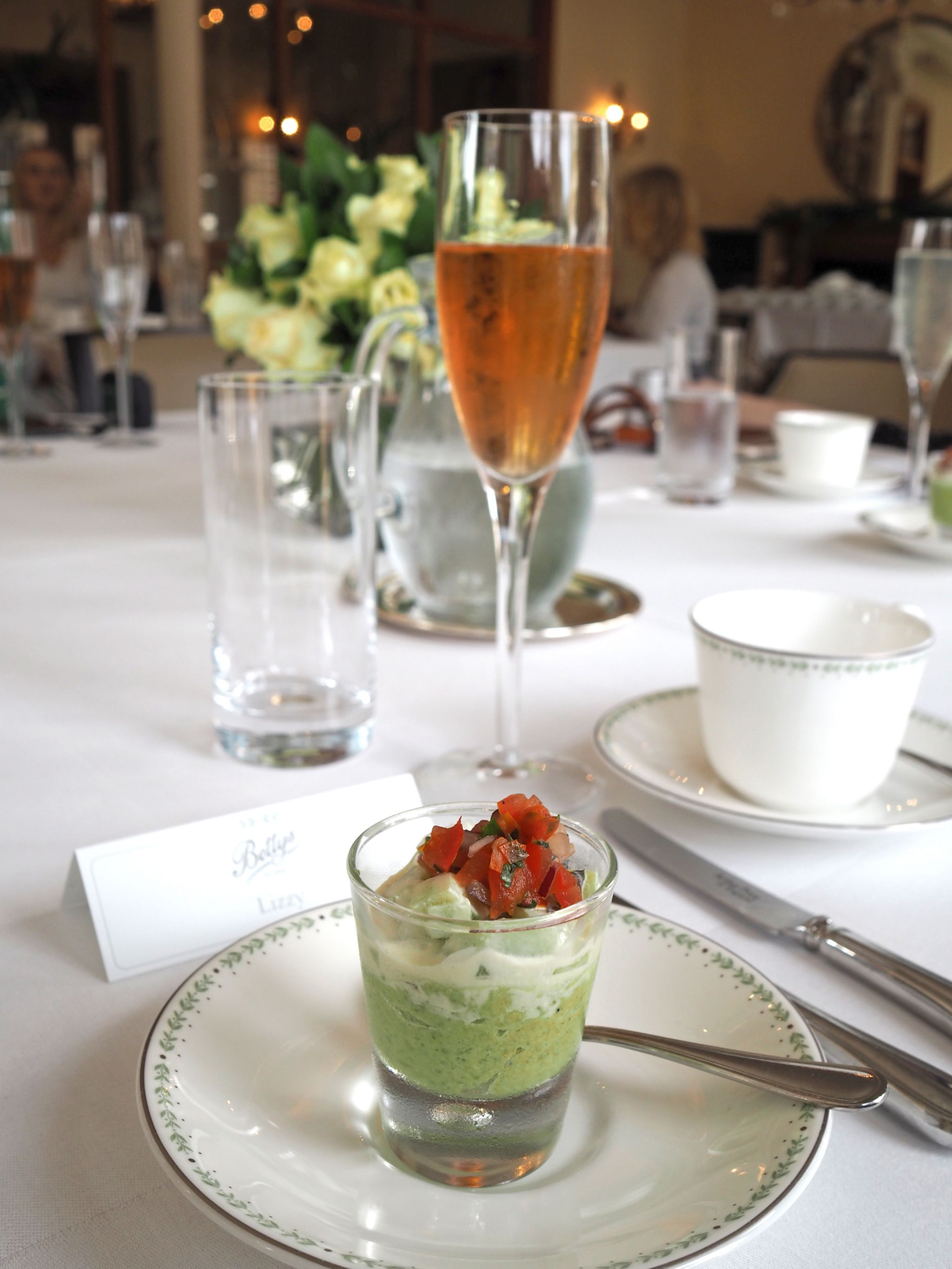 afternoon tea at bettys pea appetizer