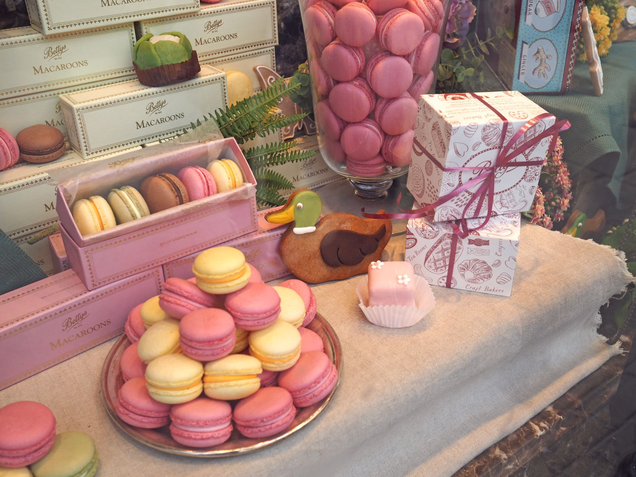 Bettys Harrogate window macaroons