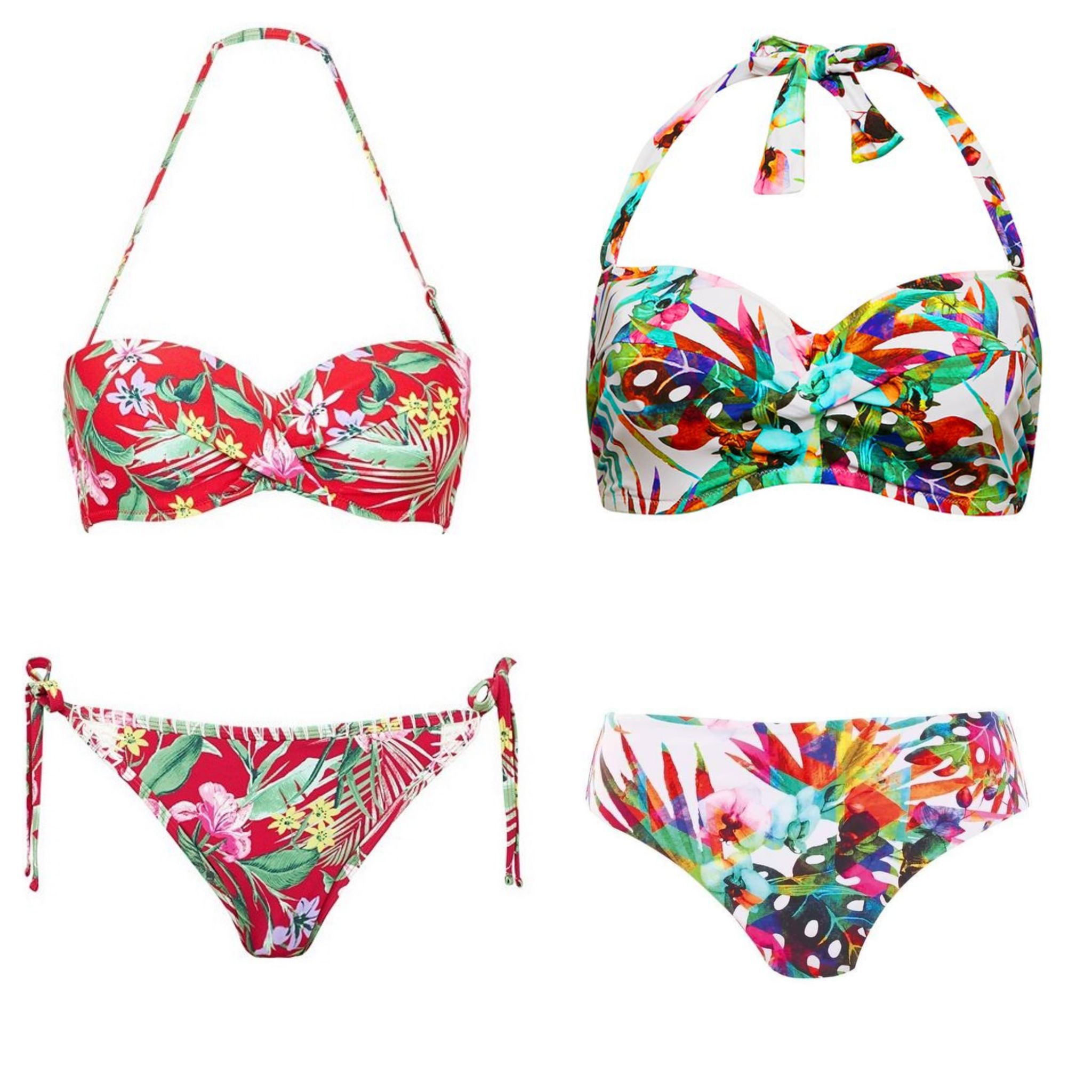 what lizzy loves tropical print palm bikinis