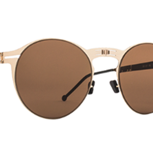 Roav eyewear Balto gold brown details
