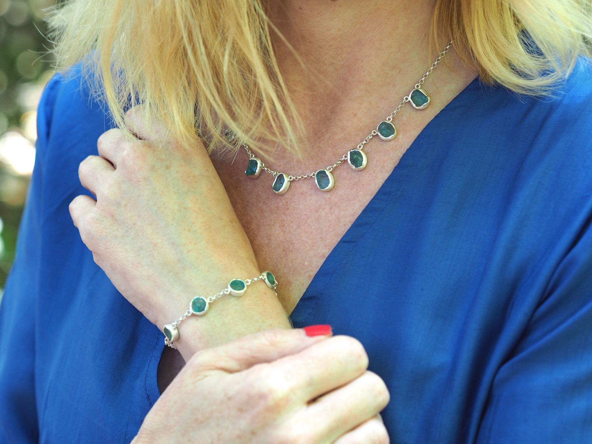 what lizzy loves apatite gemstone necklace bracelet