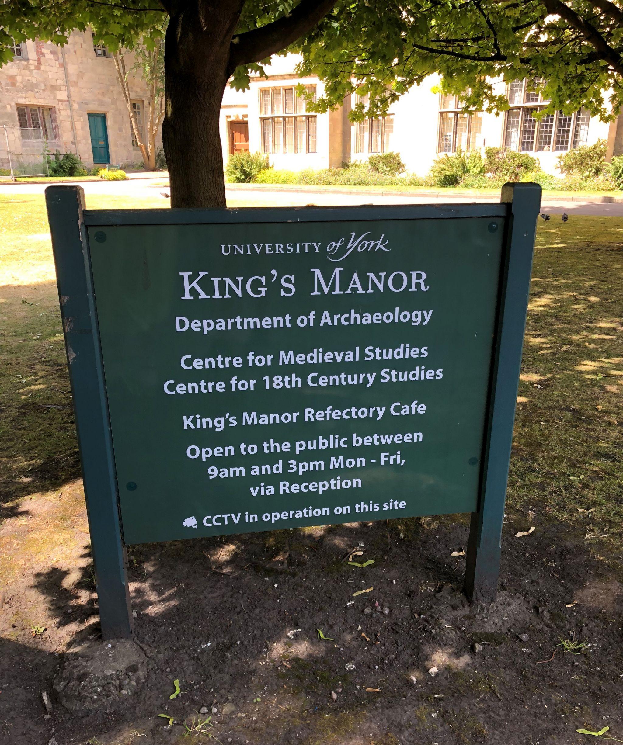 York university Kings Manor