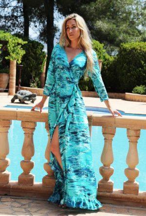 Sophia Alexia Ruffle Wrap Dress