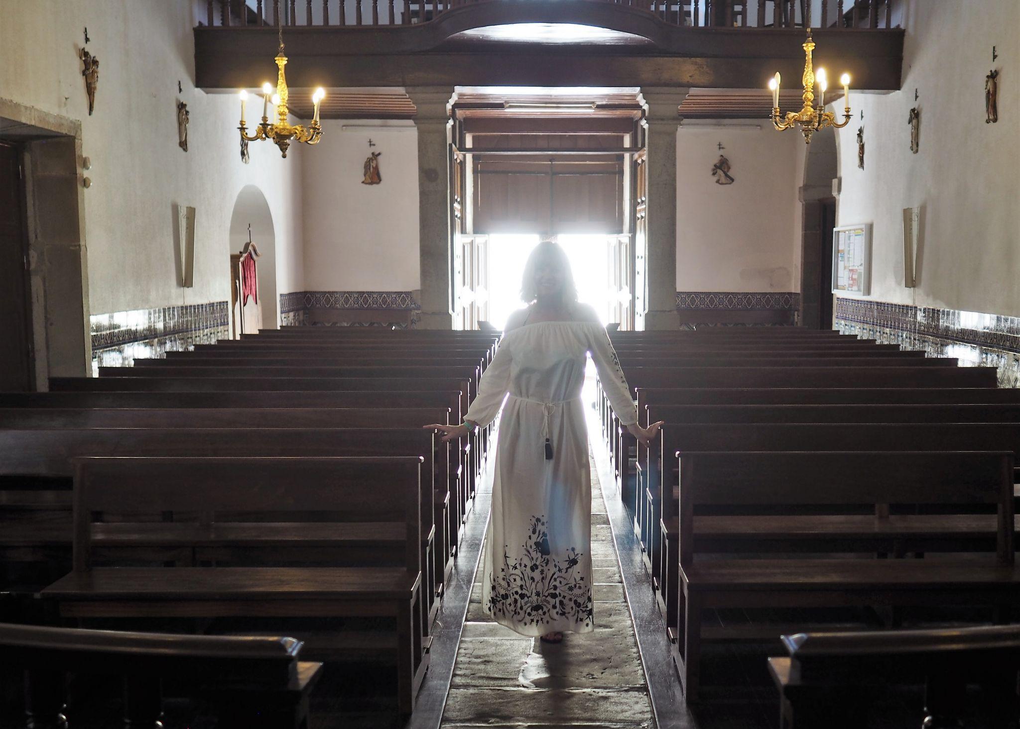 What Lizzy Loves inside Porto Santo church