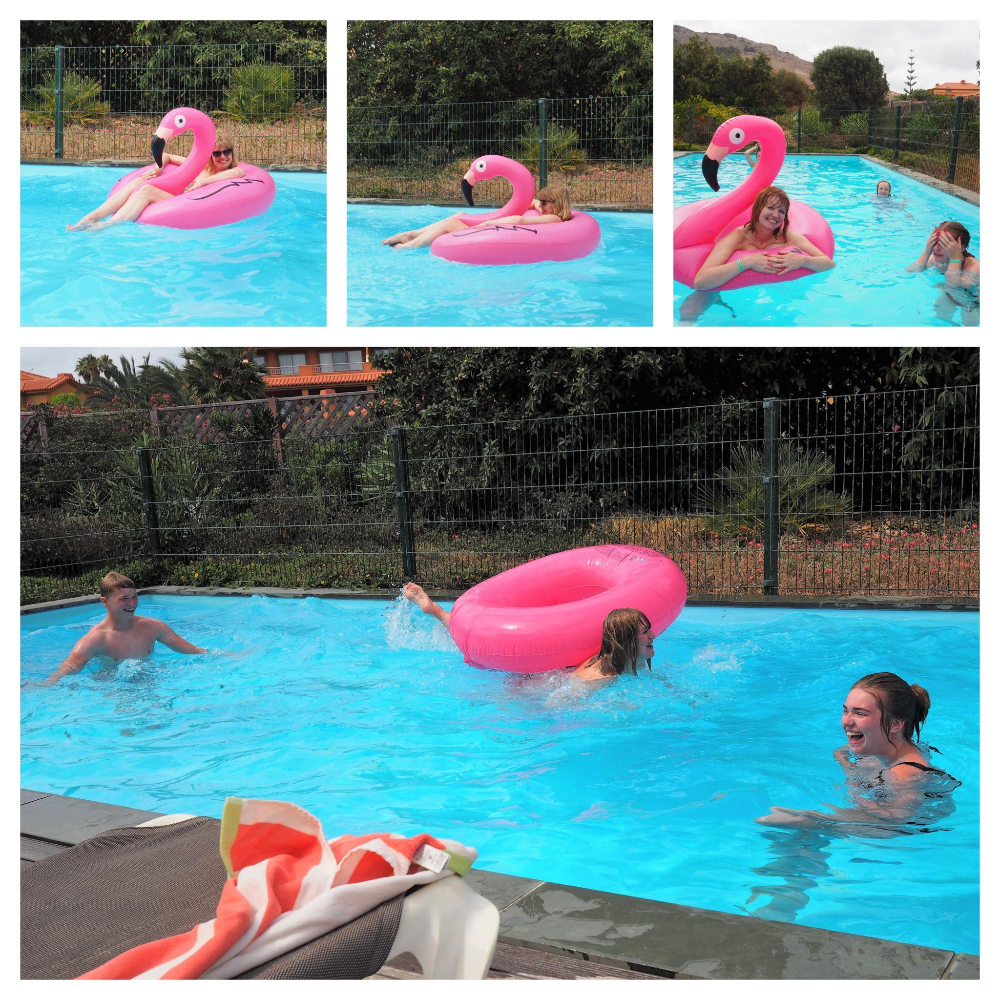 what lizzy loves flamingo pool porto santo