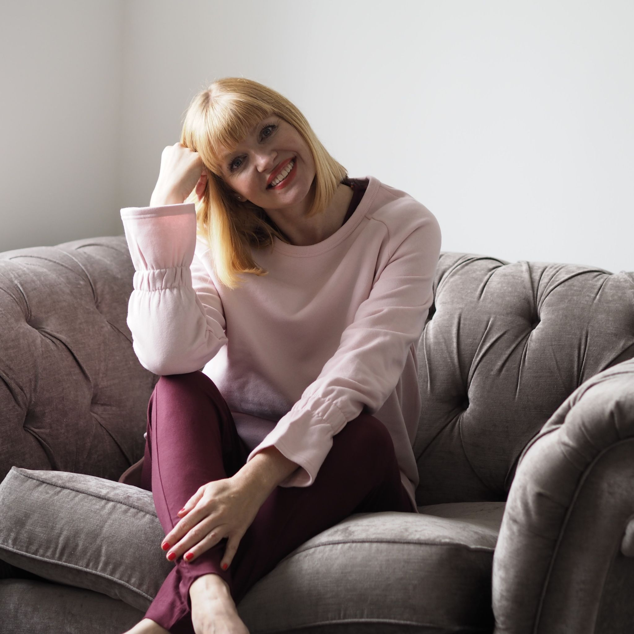 what Lizzy Loves Asquith bamboo jumpsuit pink sweatshirt