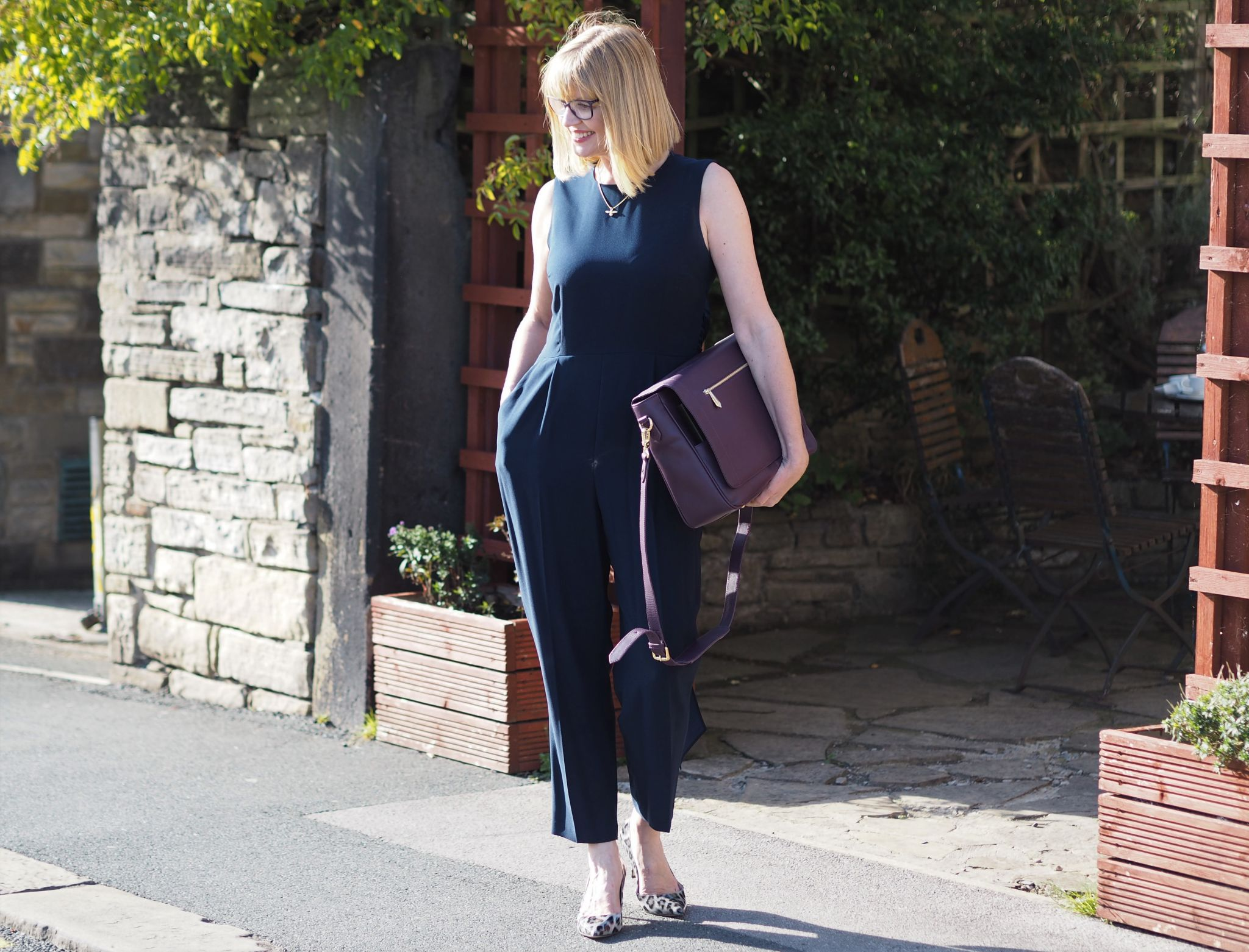 What lizzy loves hobbs navy jumpsuit