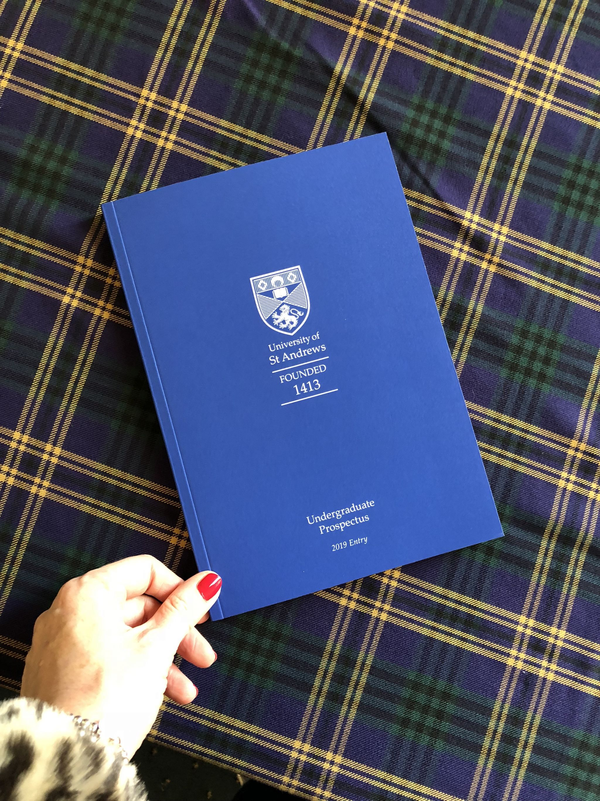 St Andrews university open day prospectus