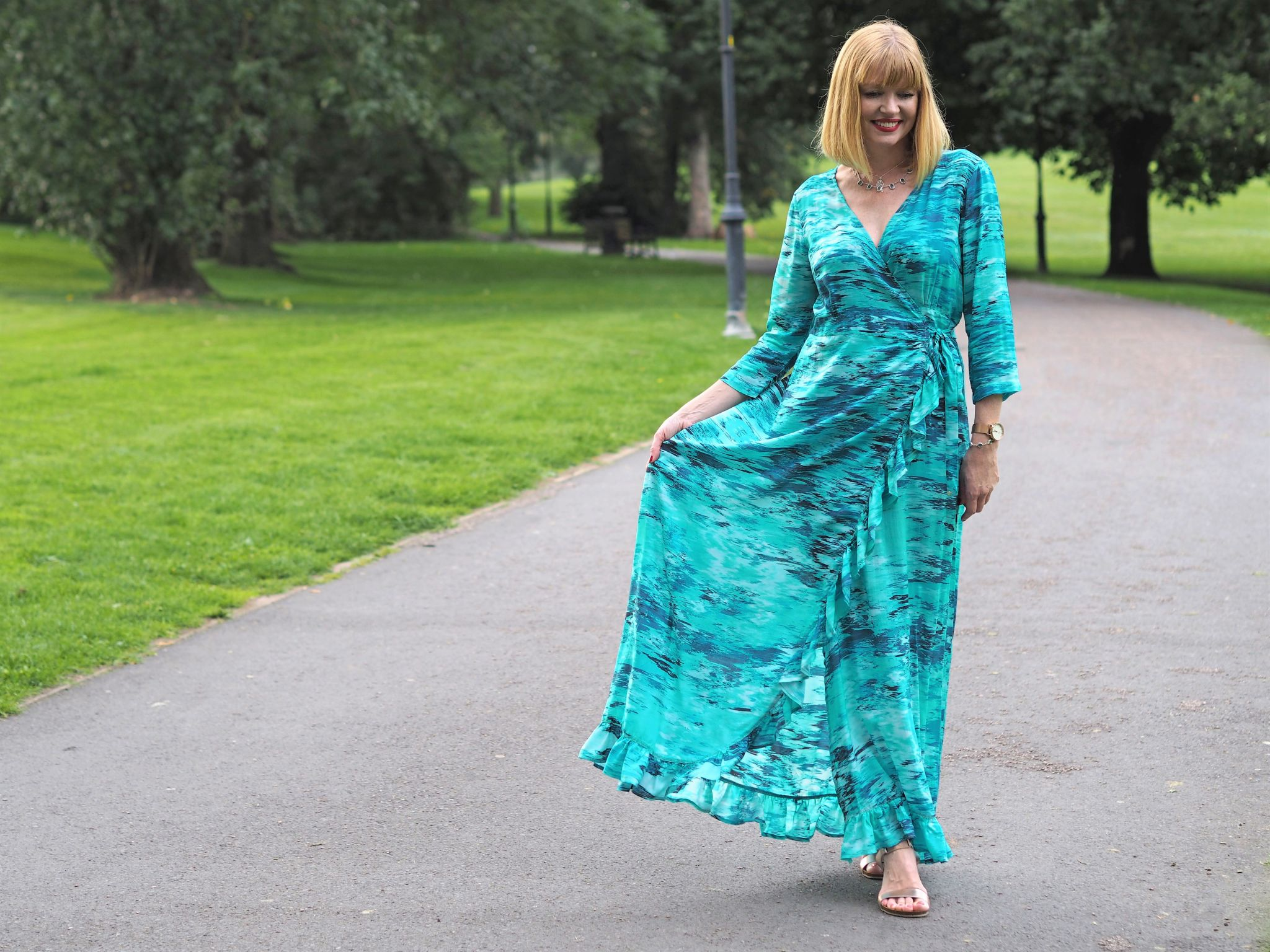 what Lizzy Loves Sophia Alexia caribbean dream ruffle maxi dress