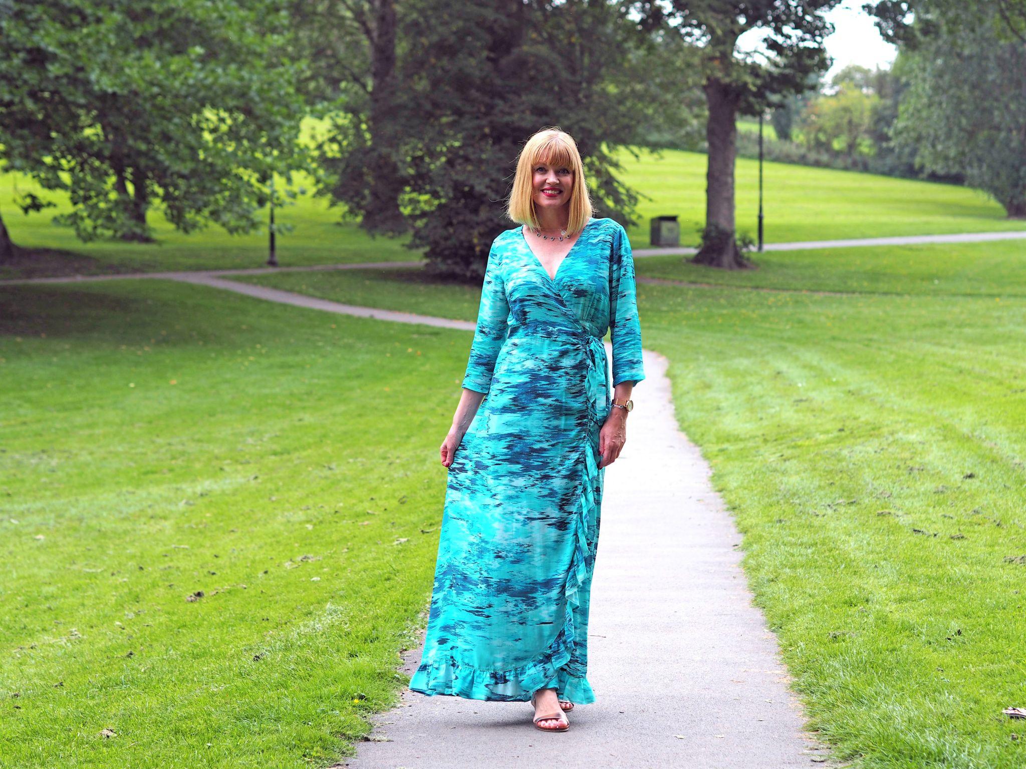 what lizzy loves sophia alexia ruffle maxi wrap dress