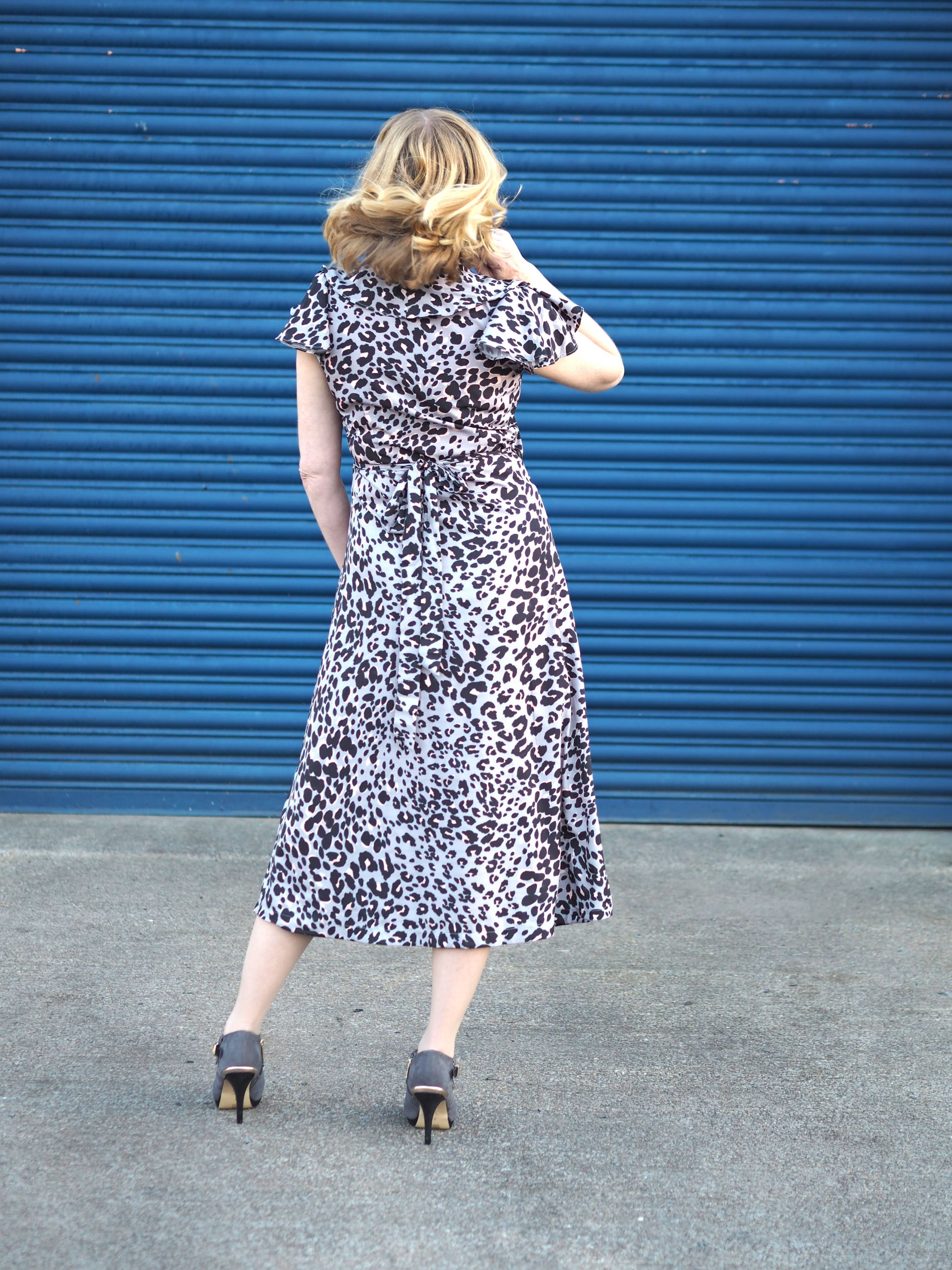 lily and lionel grey leopard wrap dress