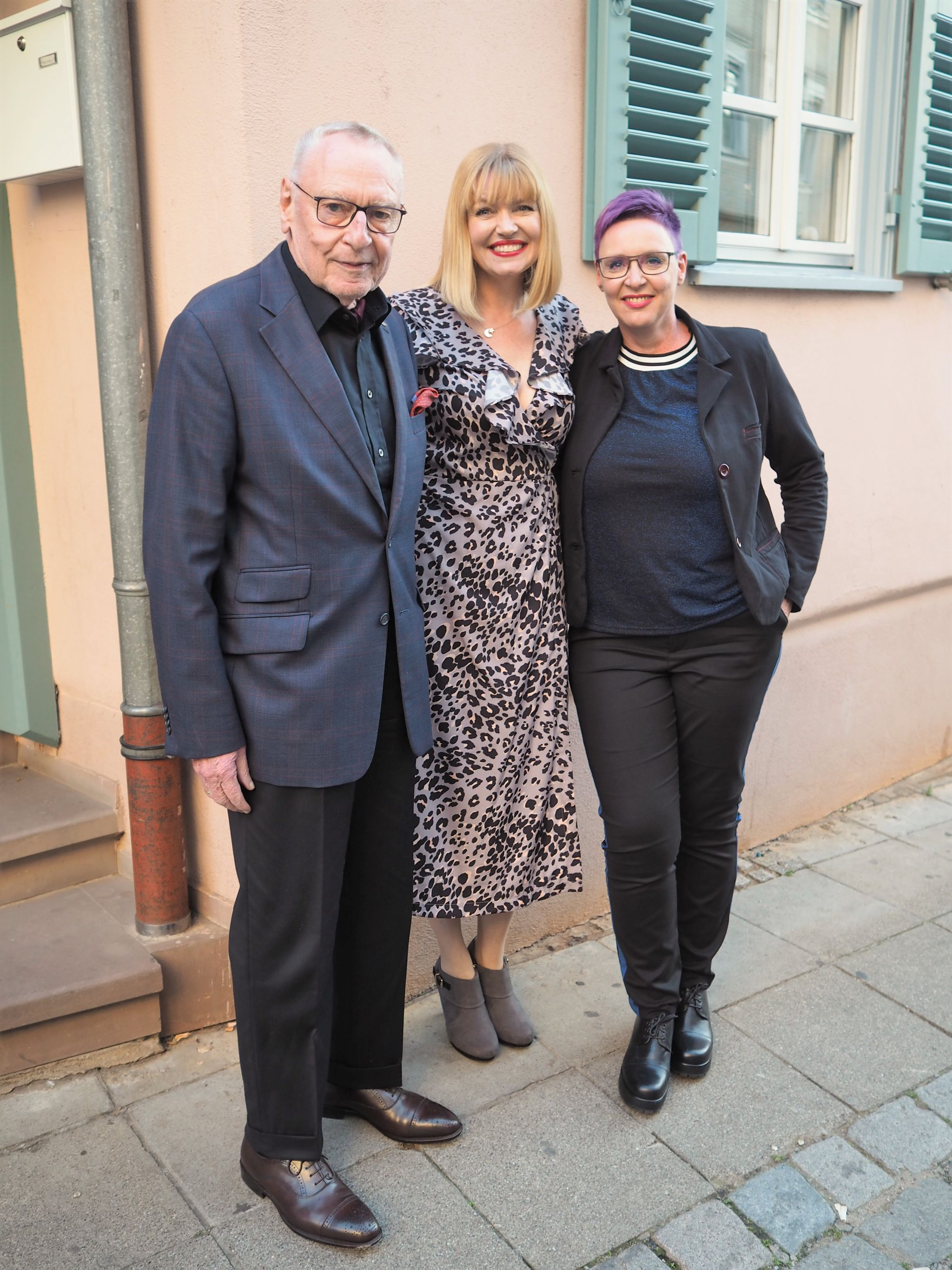 Lizzy with Hans and Saska Stepper